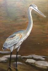 Gone Fishing Oil Original by Robin Kinney