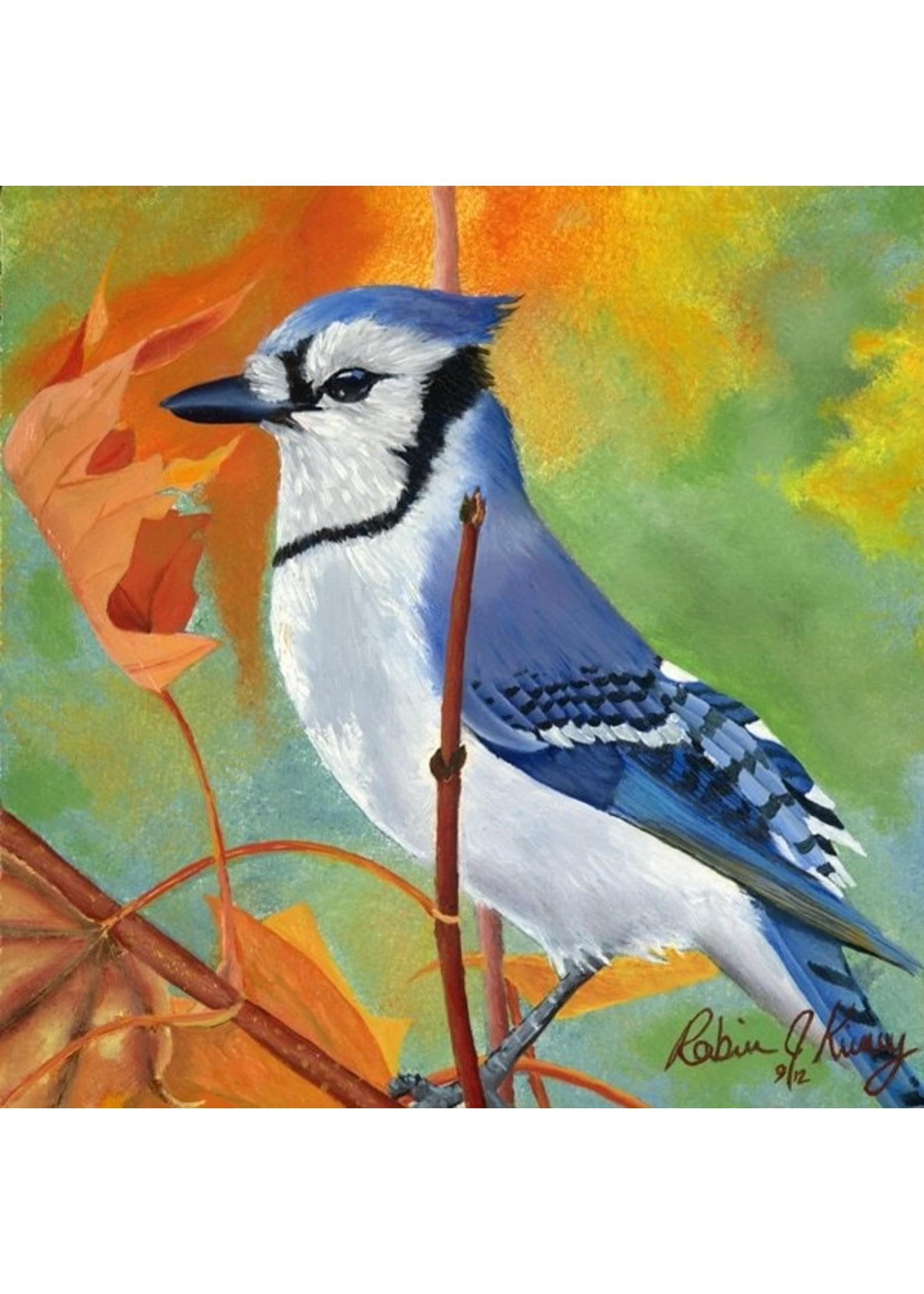 Autumnal Jay Oil Original by Robin Kinney
