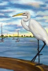Great Egret Oil Original by Robin Kinney