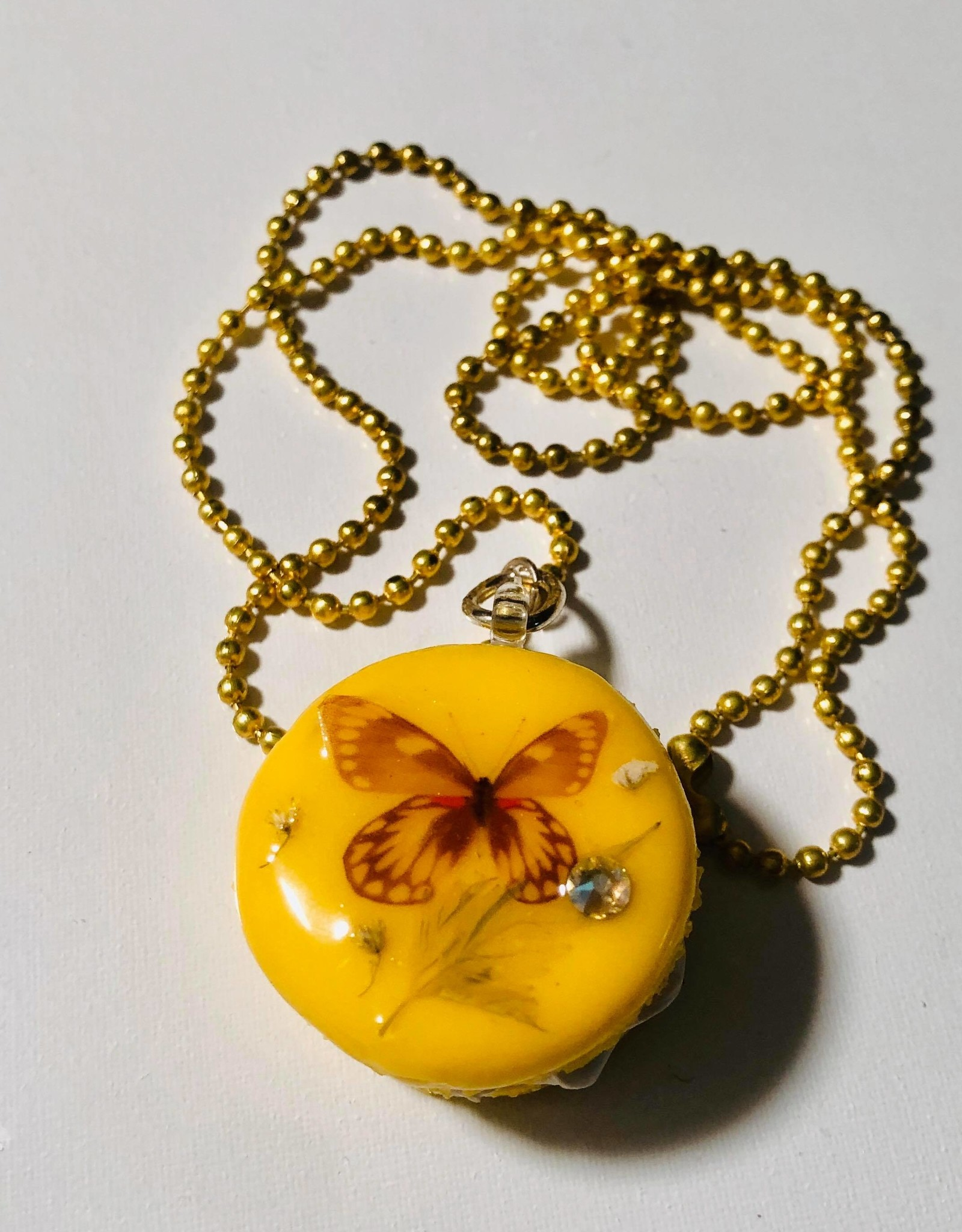 Deco and Dice Butterfly Macaron Necklace