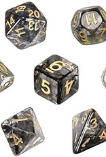 RPG Dice Set (7): Black Cloud Transparent Resin