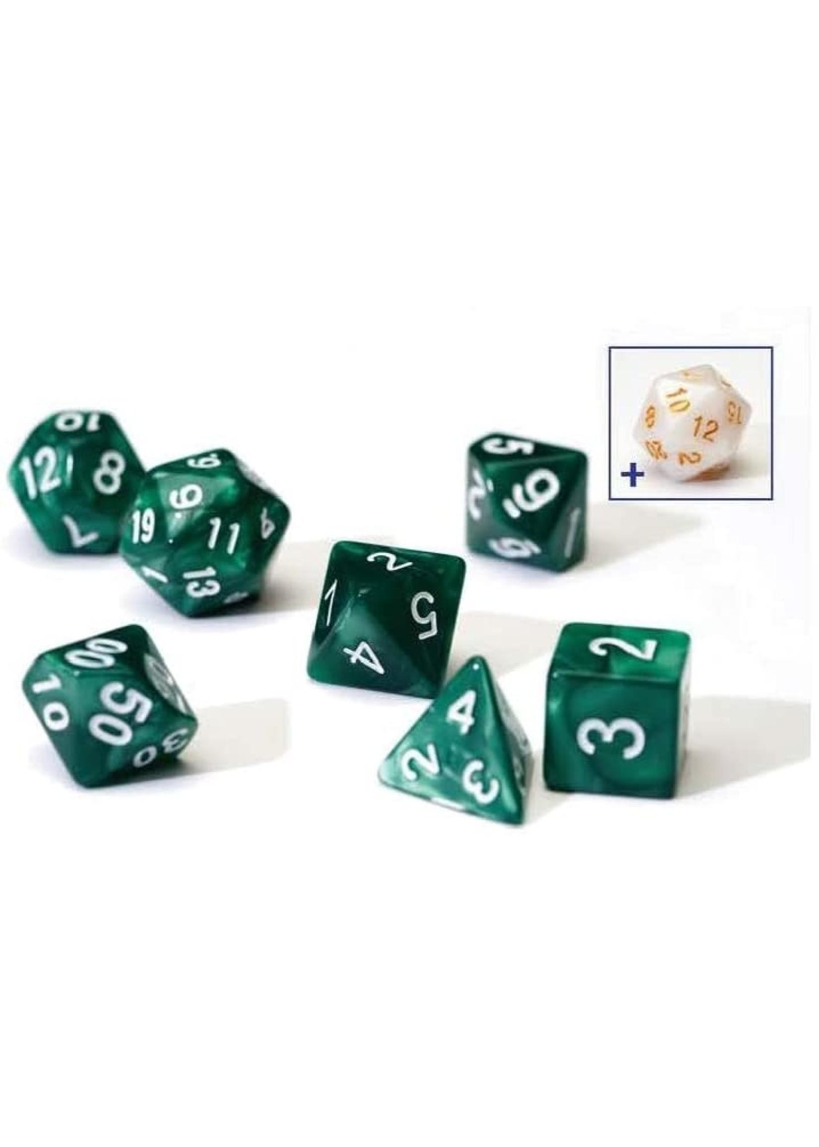 Sirius RPG Dice Set (7): Pearl Green Acrylic