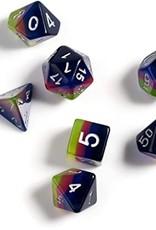 RPG Dice Set (7): Pink, Green, Blue