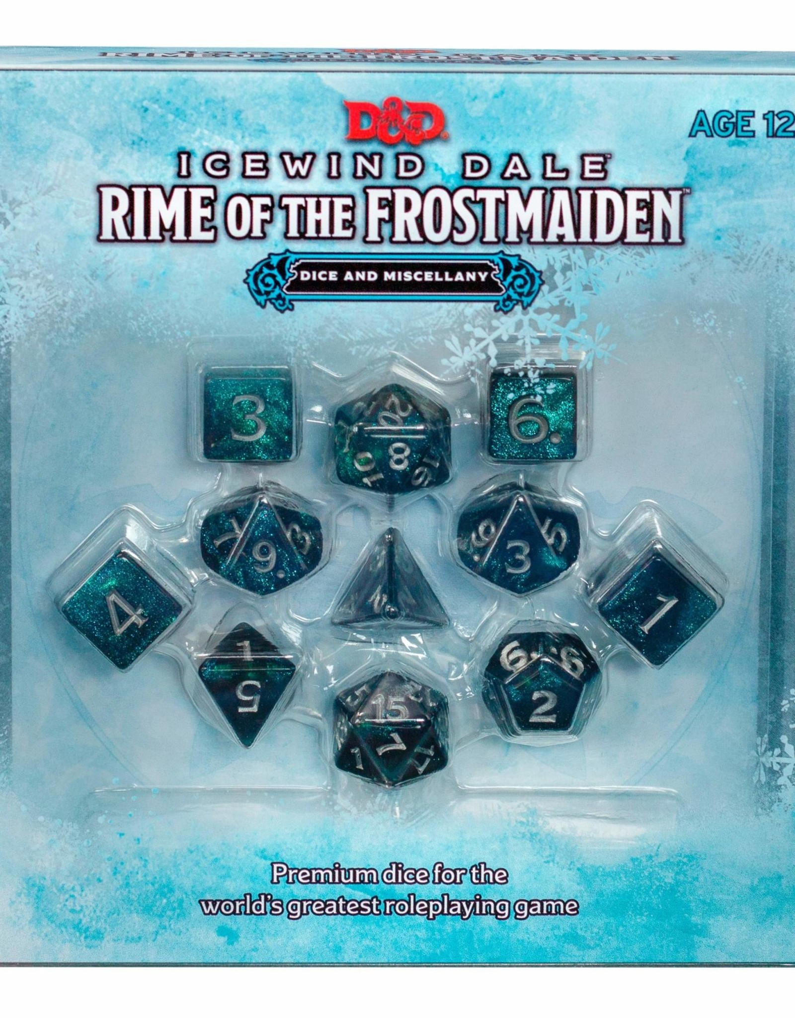 Ice Wind Dale Rime of the Frost Maiden Dice Set