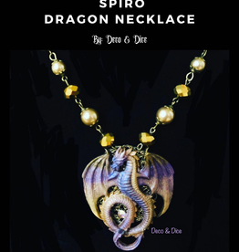 Deco and Dice Dragon Necklaces