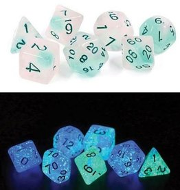 RPG Dice Set (7): Frosted Glowworm