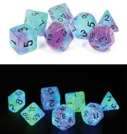 RPG Dice Set (7): Peacock Glowworm