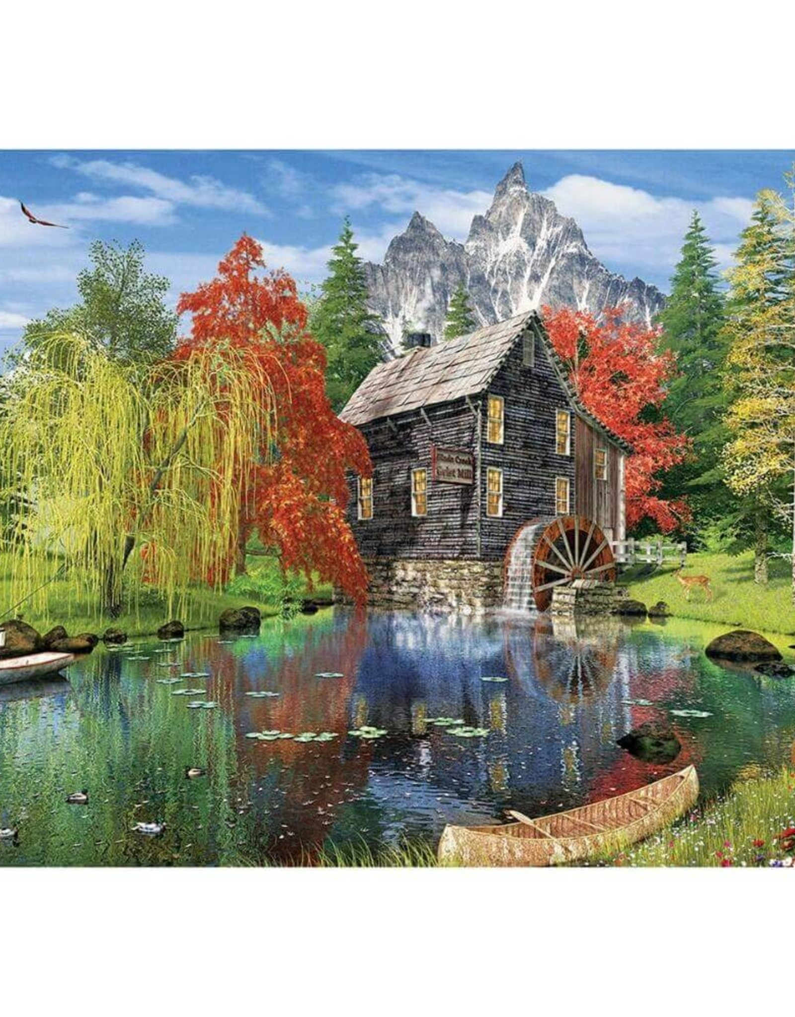 Fishing By The Mill 1500 Piece  Puzzle