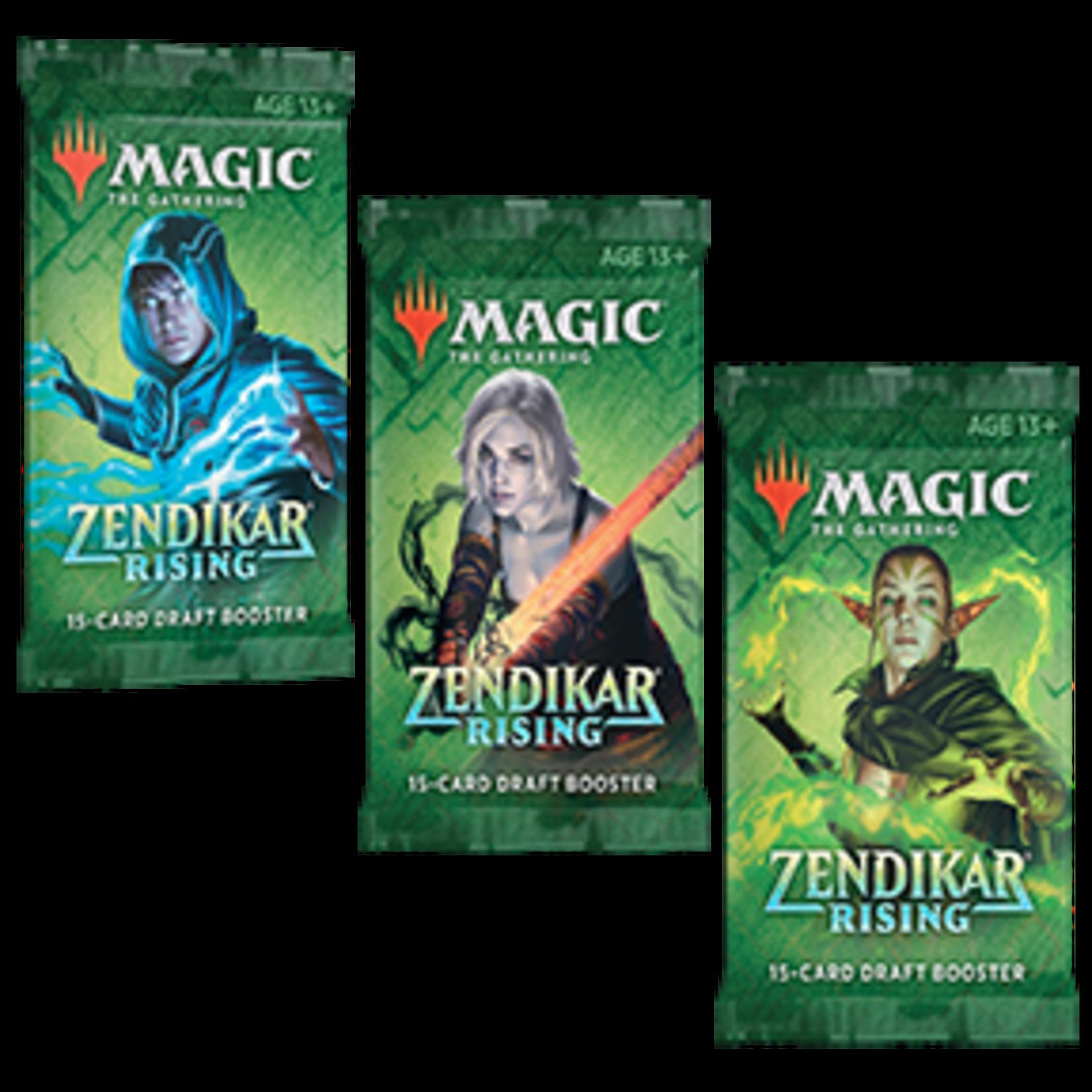 Magic the Gathering CCG: Zendikar Rising Draft Booster Display single