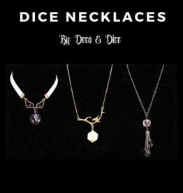 Deco and Dice Dice Necklaces