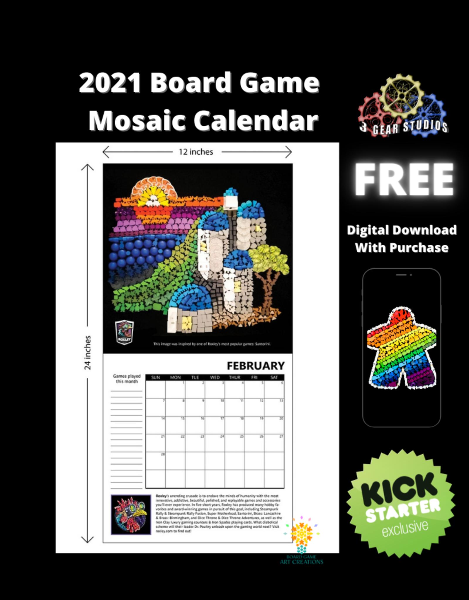 2021 Board Game Mosaic Calendar