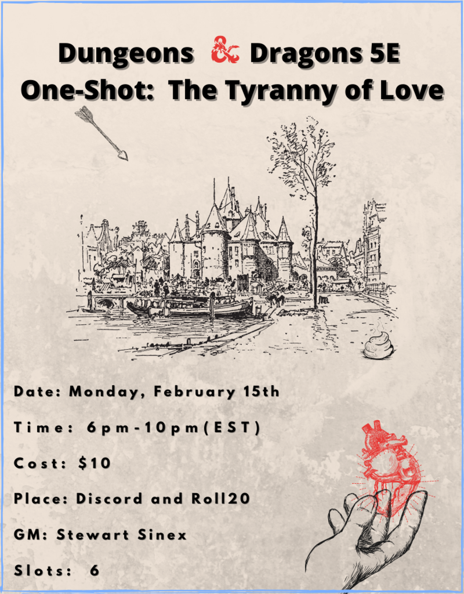 Dungeons and Dragons 5E One-Shot The Tyranny of Love