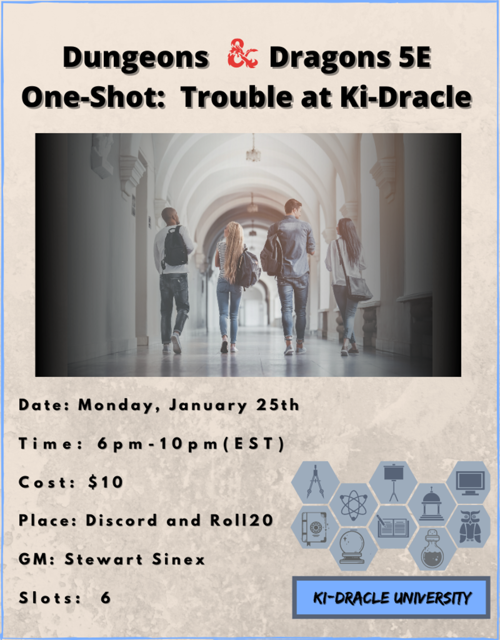 Dungeons and Dragons 5E One Shot Trouble at Ki-Dracle