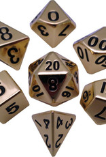 16mm Gold Metal Dice Set