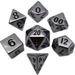 Silver Metal Polyhedral Dice Set