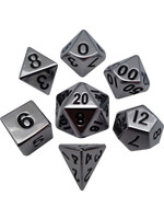 Silver Metal Polyhedral Dice Set