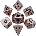 Copper Metal Dice Set