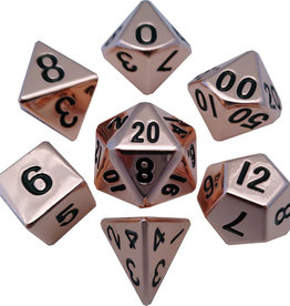 Copper Metal Dice Set
