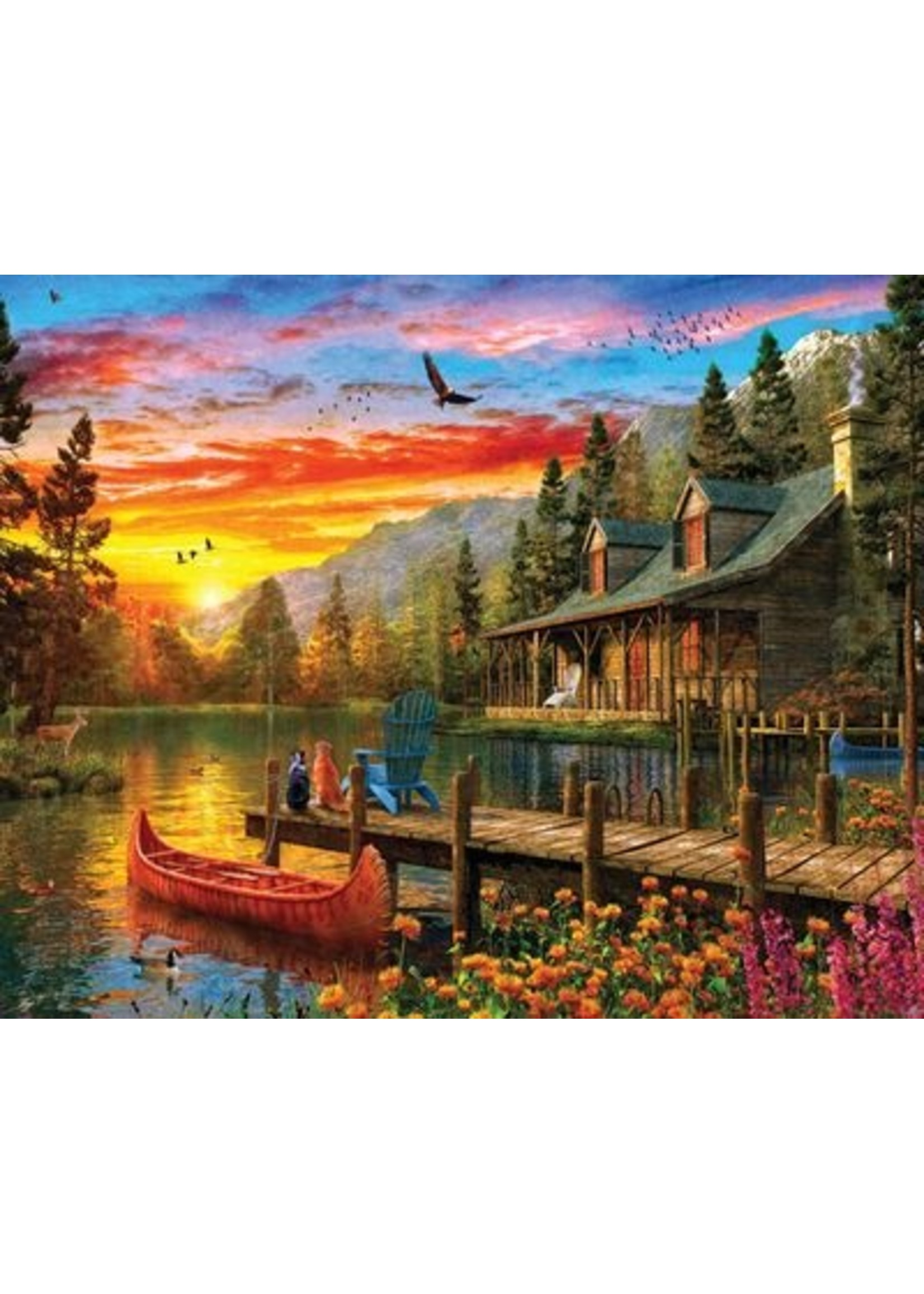 Cabin Evening Sunset