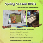 Spring Season Role  Playing Games