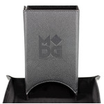 Fold Up Leather Dice Tower: Black