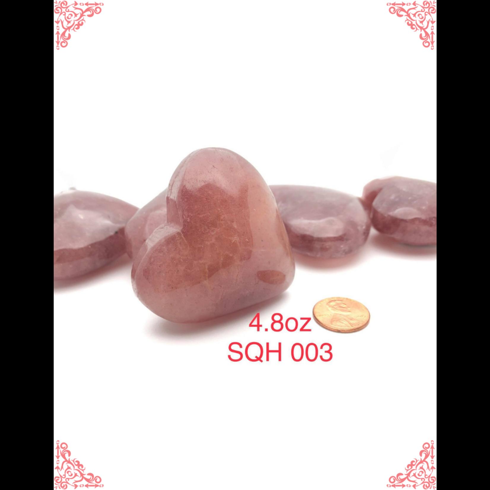 Strawberry Quartz Hearts