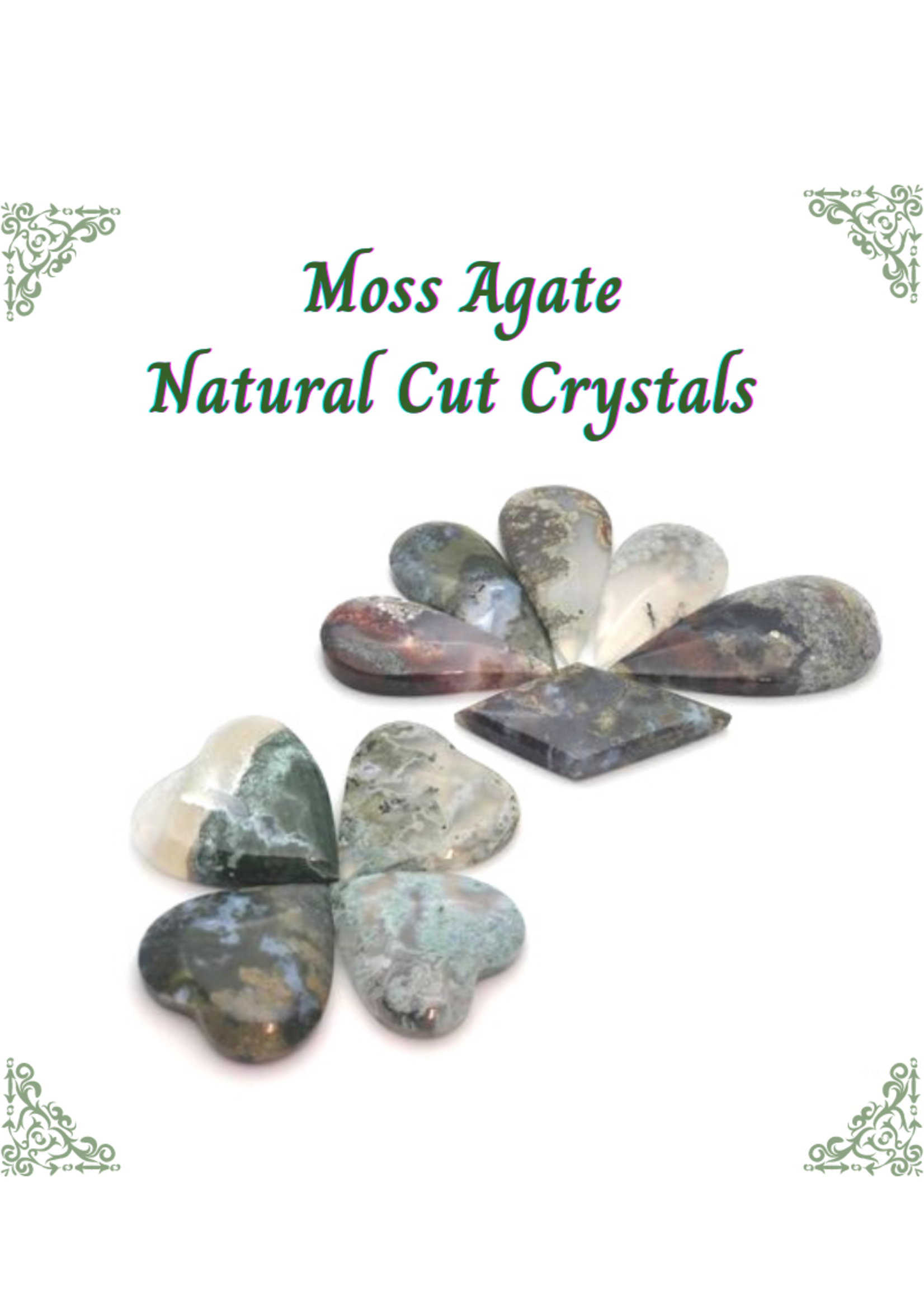 Moss Agate Cut Crystals