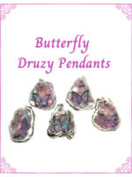 Butterfly Druzy Pendants