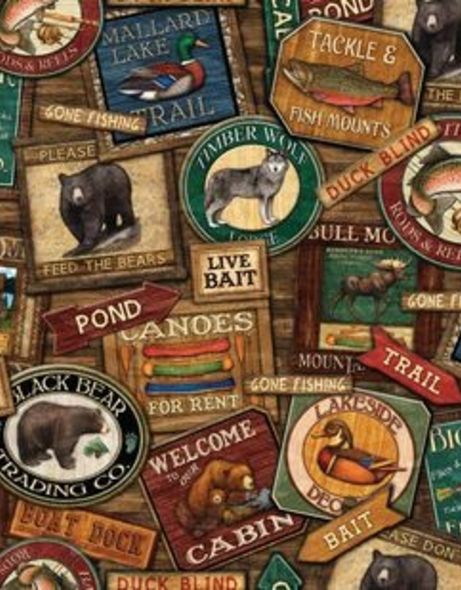 LODGE SIGNS 500 PIECE JIGSAW PUZZLE