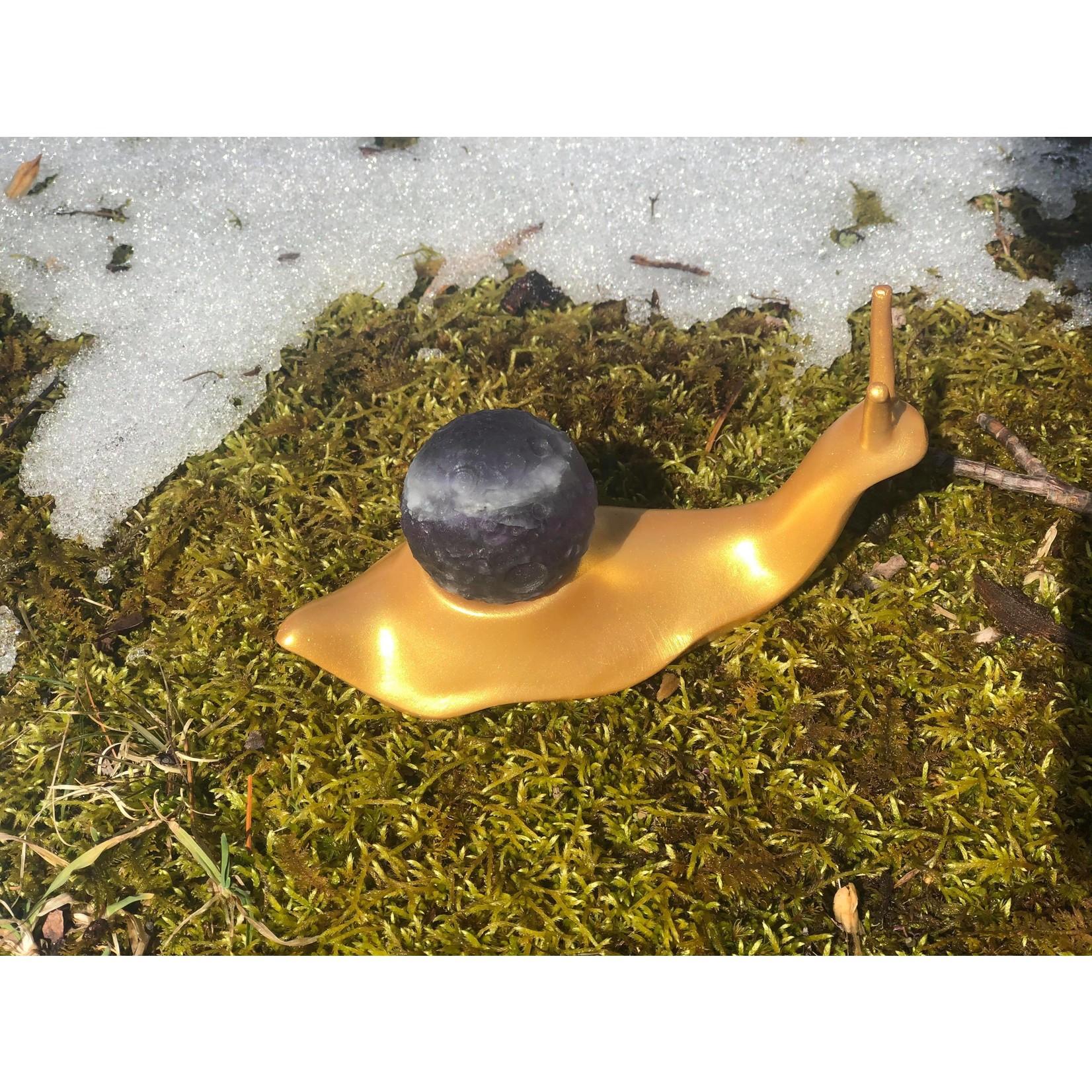 Full Moon Carved Crystal Sphere