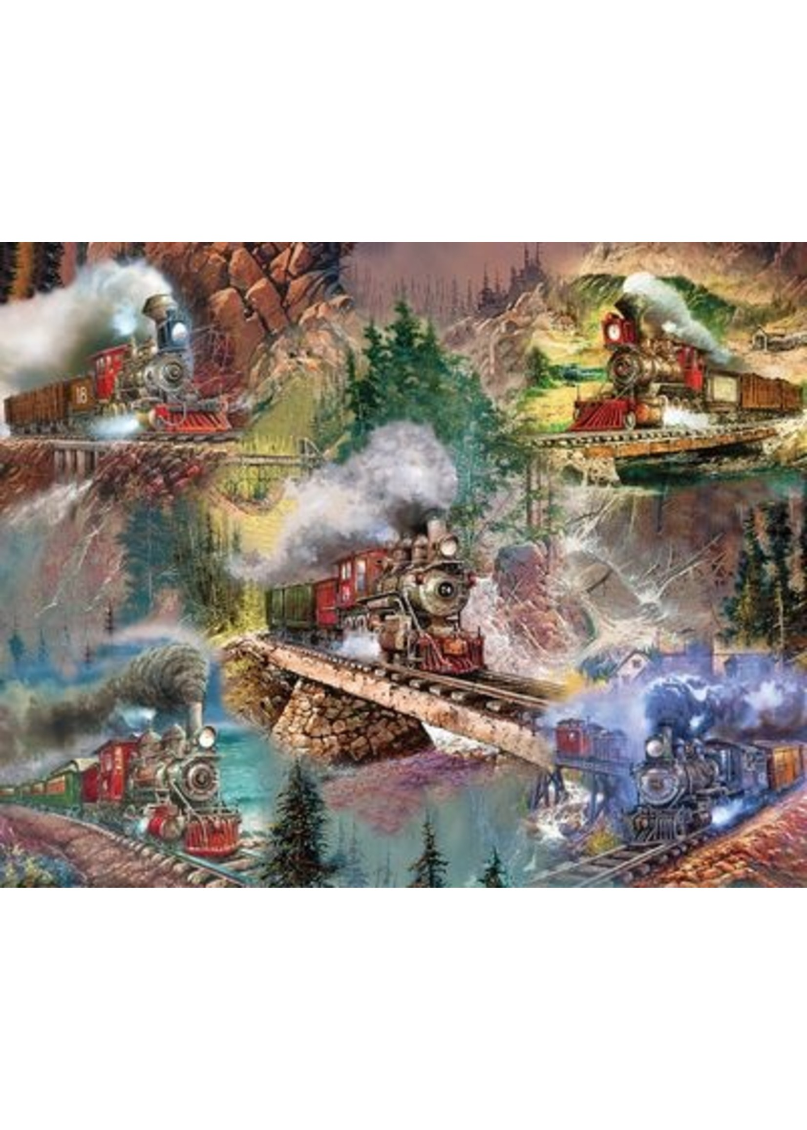 THRILLING TRAINS 1000 PIECE JIGSAW PUZZLE