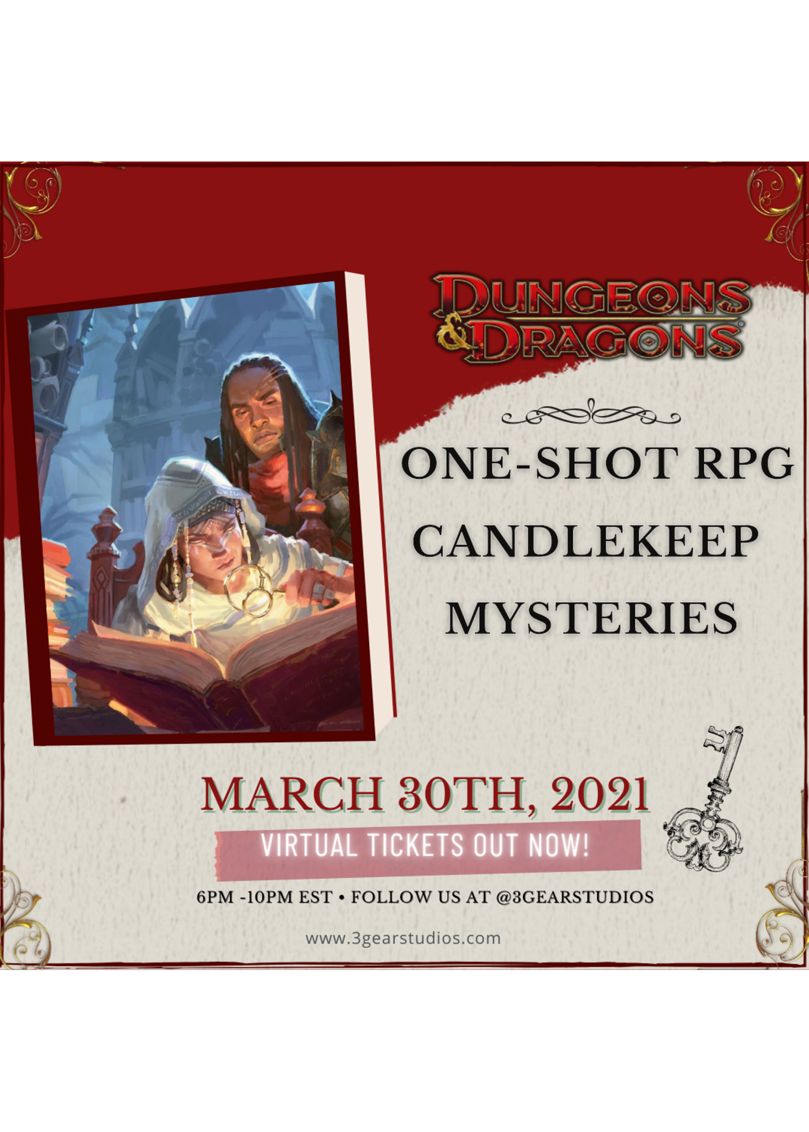 Dungeons and Dragons5E One-Shot  Candlekeep Mysteries 3/30
