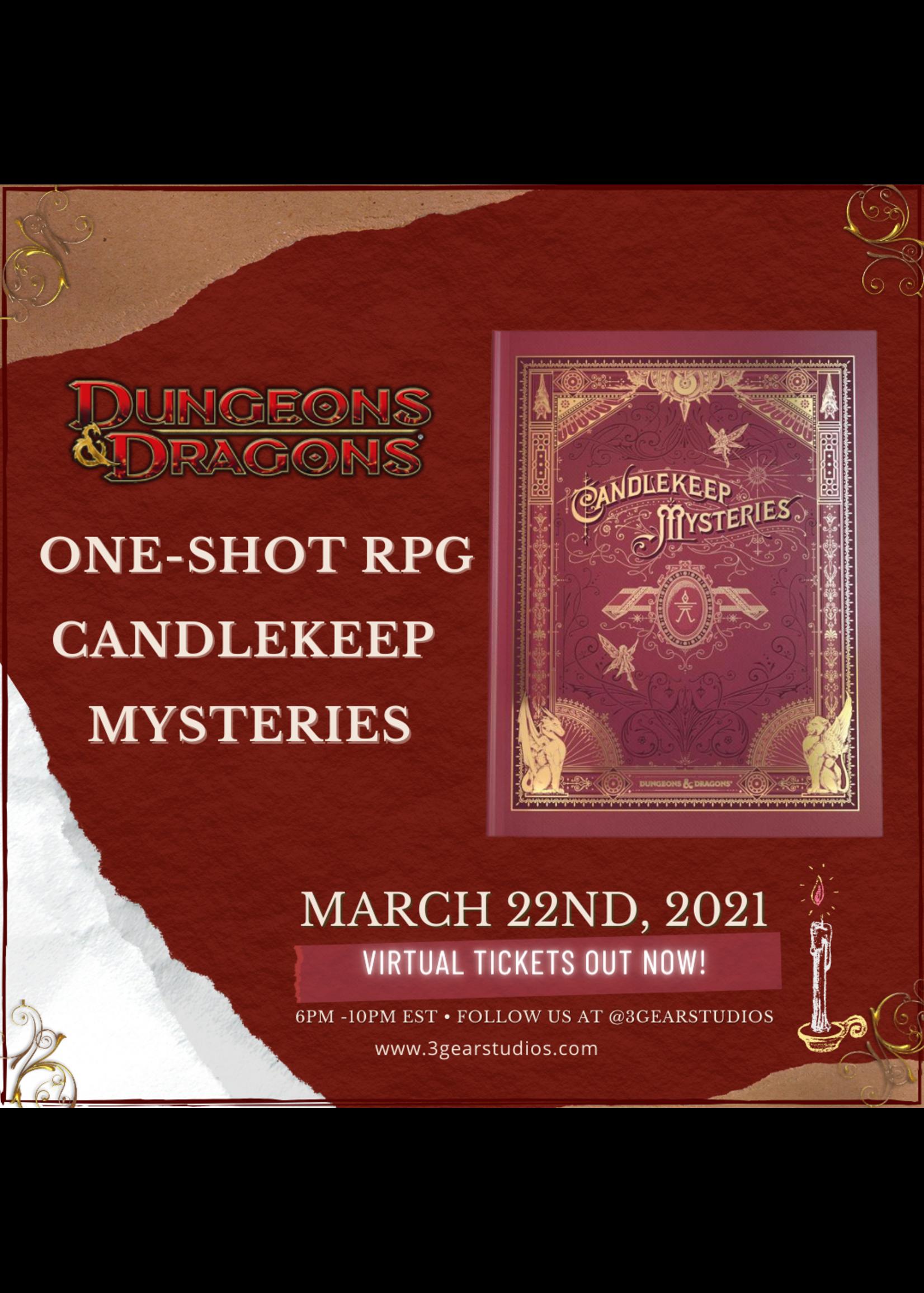D&D5E  One-Shot D&D Candlekeep Mysteries  3/22