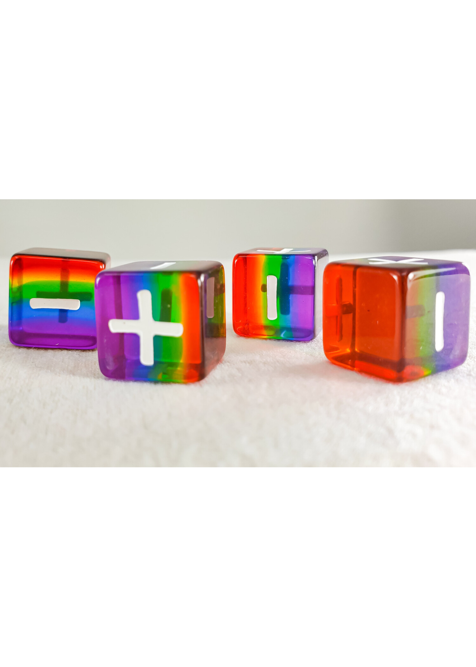 Translucent Pack of 4 Rainbow Pride 16mm Fate D6