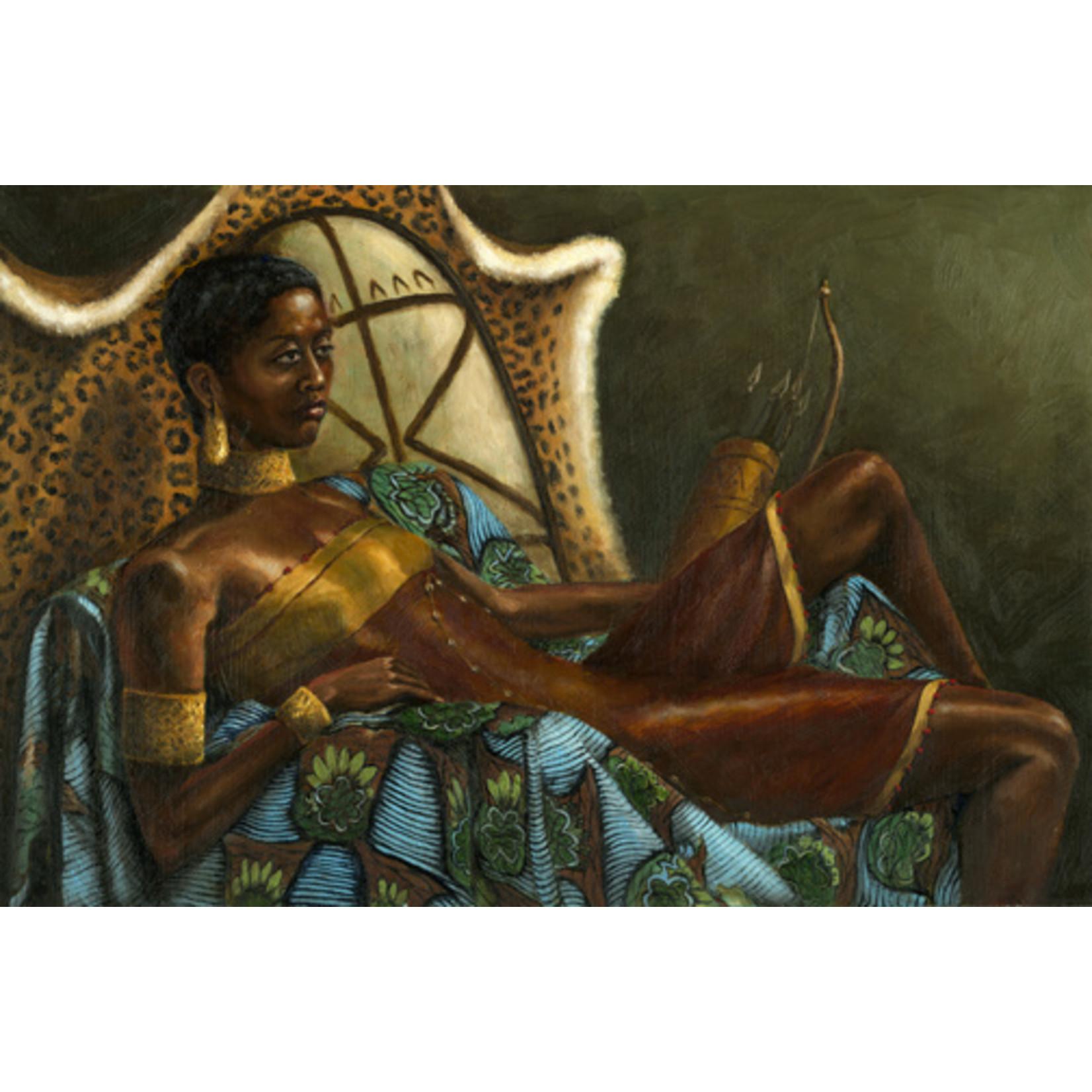 """Nzingha, Warrior Queen  18.5"""" x 12.5"""" Warrior Women Series"""