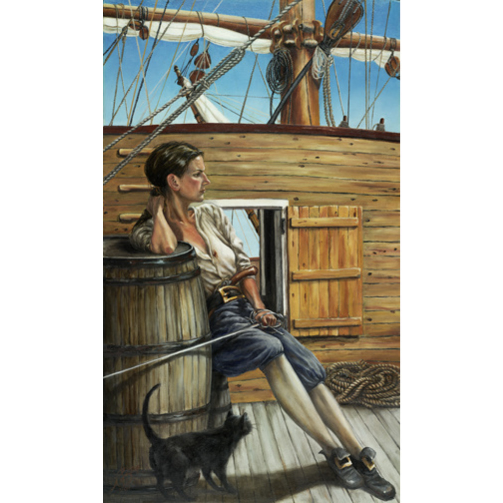 """Grainne Ni Mhaille (Grania)"" by Roxana Sinex 17"" x 10"" Warrior Women Series"