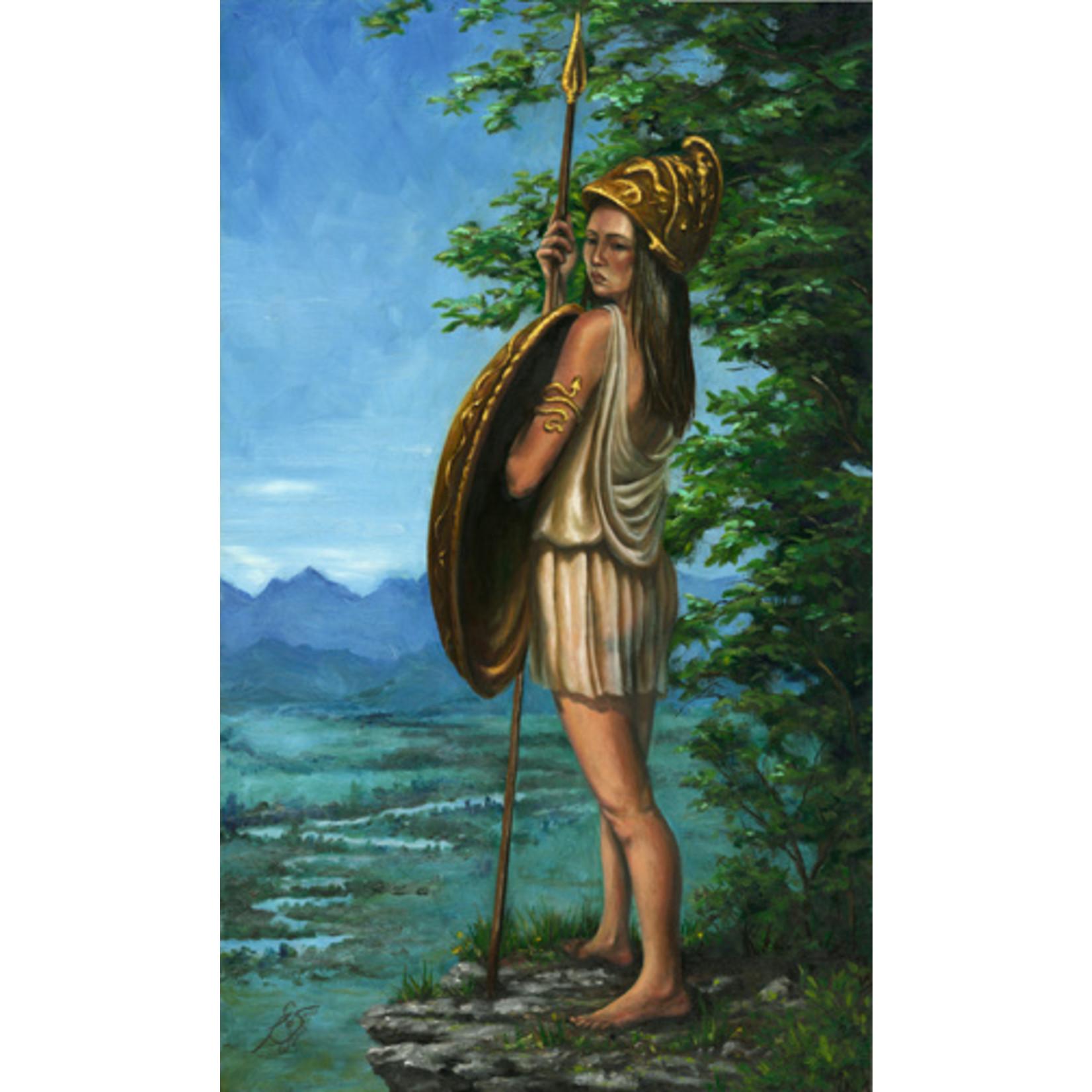 """Penthesilia, Queen of the Amazons"" by Roxana Sinex 17"" x 10"" Warrior Women Series"