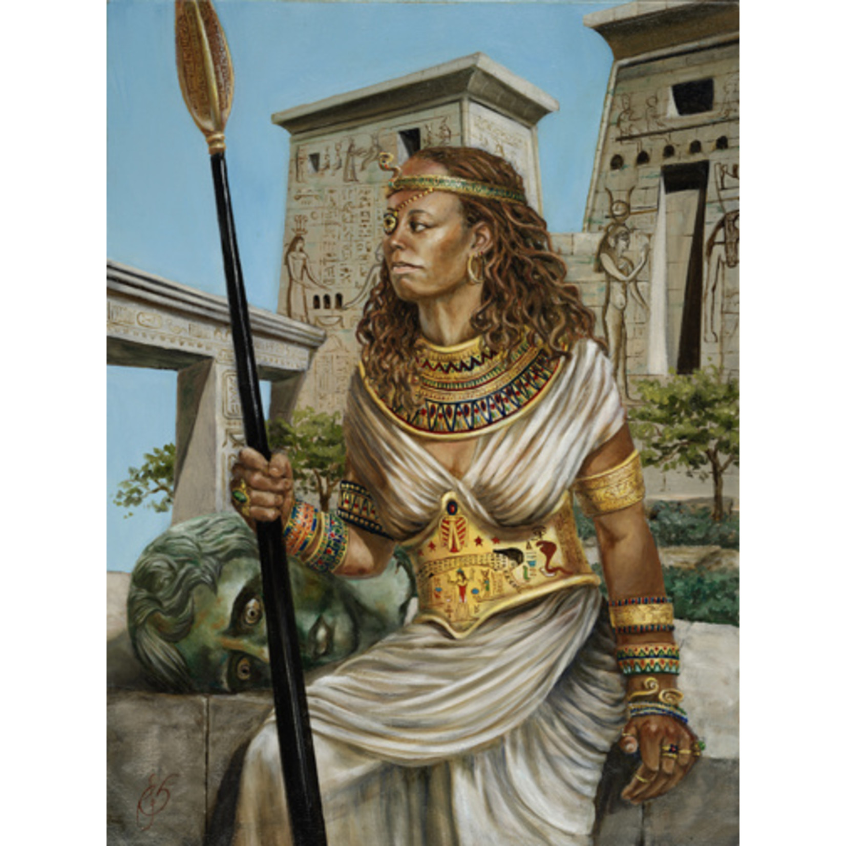 """Amanirenas, Kandake of Nubia"" by Roxana Sinex  13"" x 10"" Warrior Women Series"