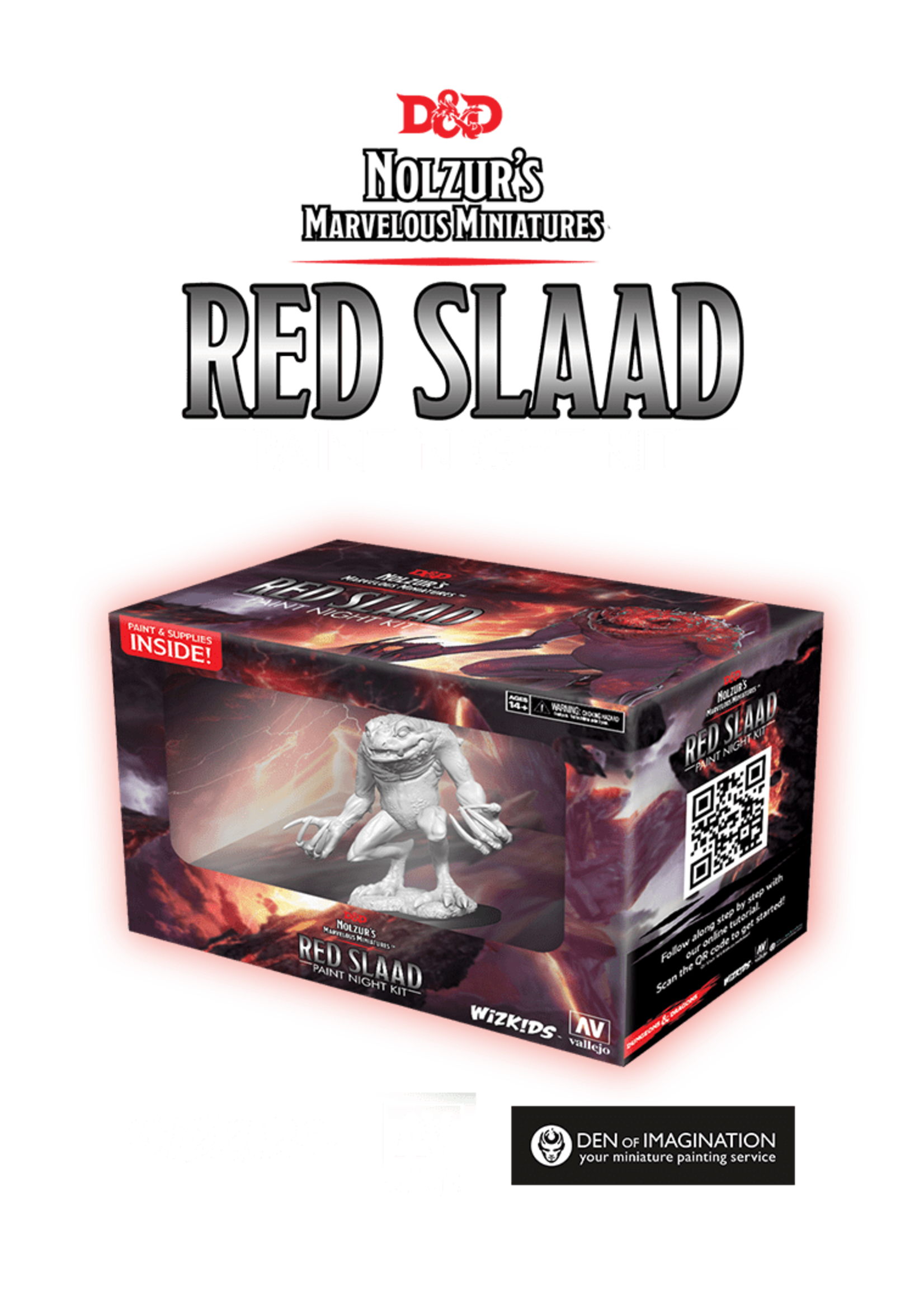 Dungeons & Dragons Nolzur`s Marvelous Miniatures: Red Slaad Virtual Paint Night Event