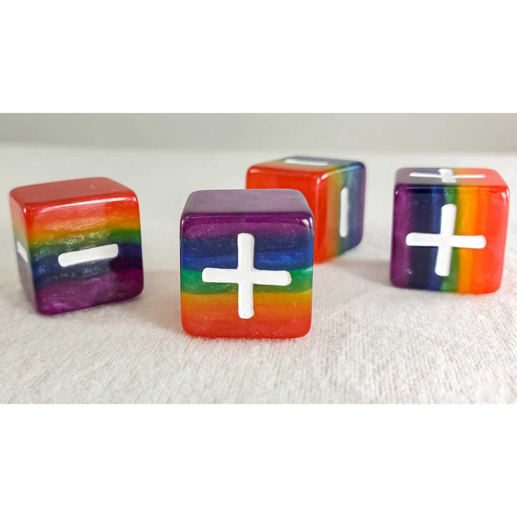 Opaque Pack of 4 Rainbow Pride 16mm Fate D6