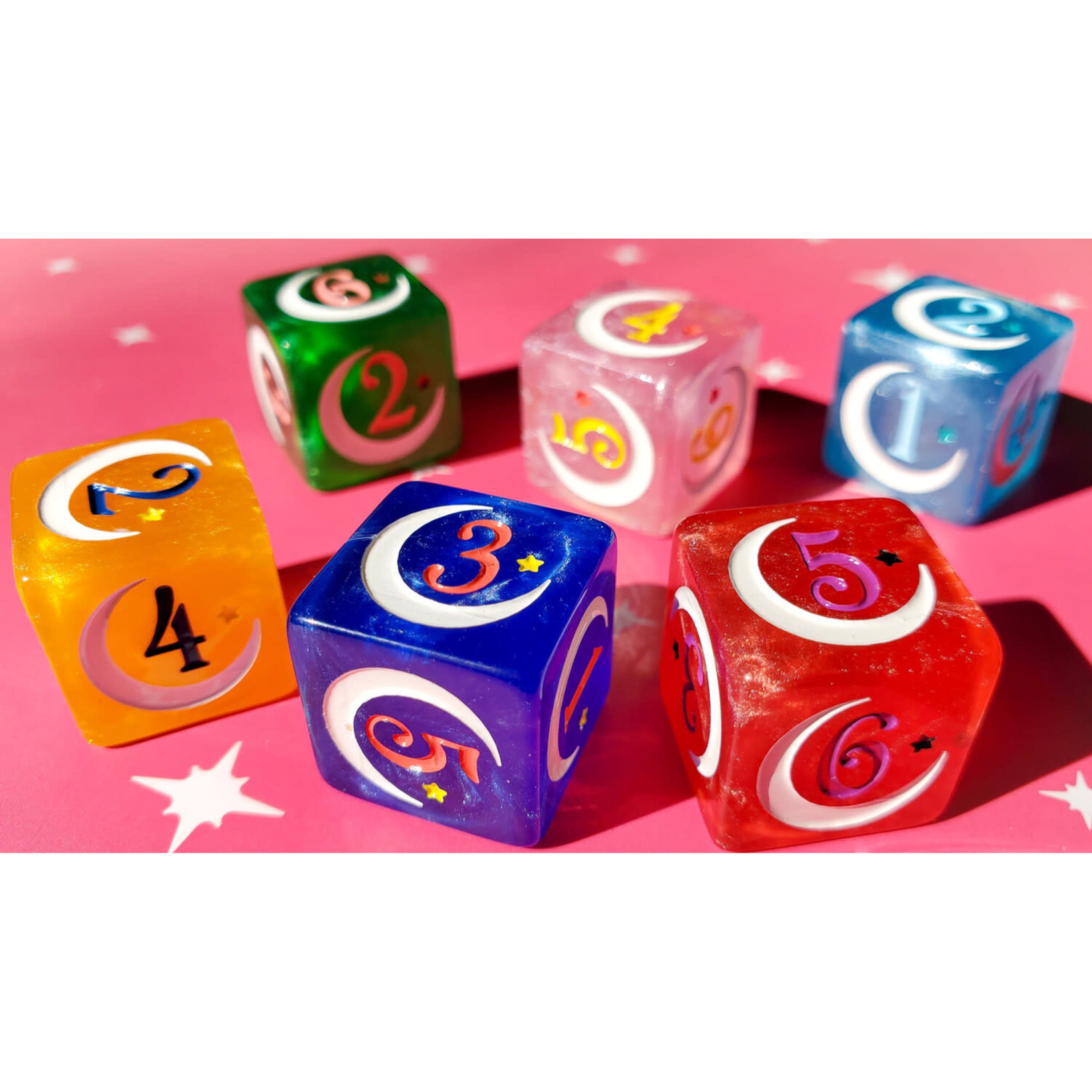 Magical Girl Dice - Pack of 6 - 18mm
