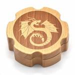 BEECH WOOD DICE BOX (HEXAGONAL)