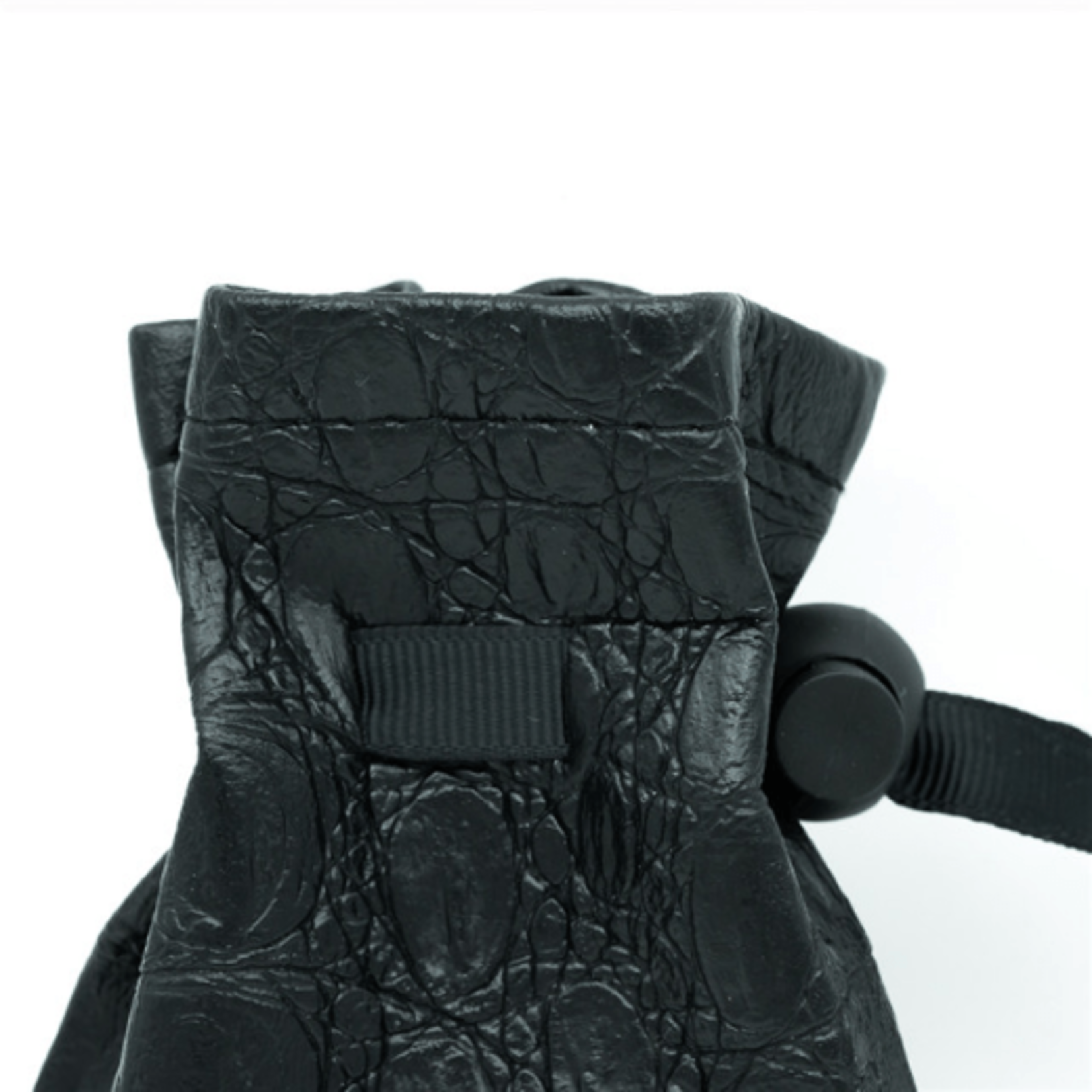 Black Leatherette Dark Mage Eye Dice Bag