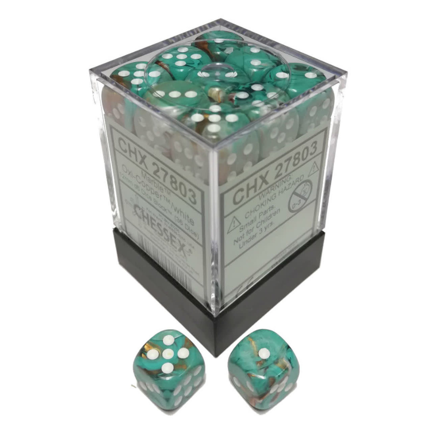 Dice Menagerie 10 12mm D6 Marble Oxi Copper