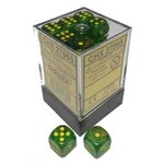 Dice Menagerie 10: 12mm D6 Borealis Maple Green/Yellow