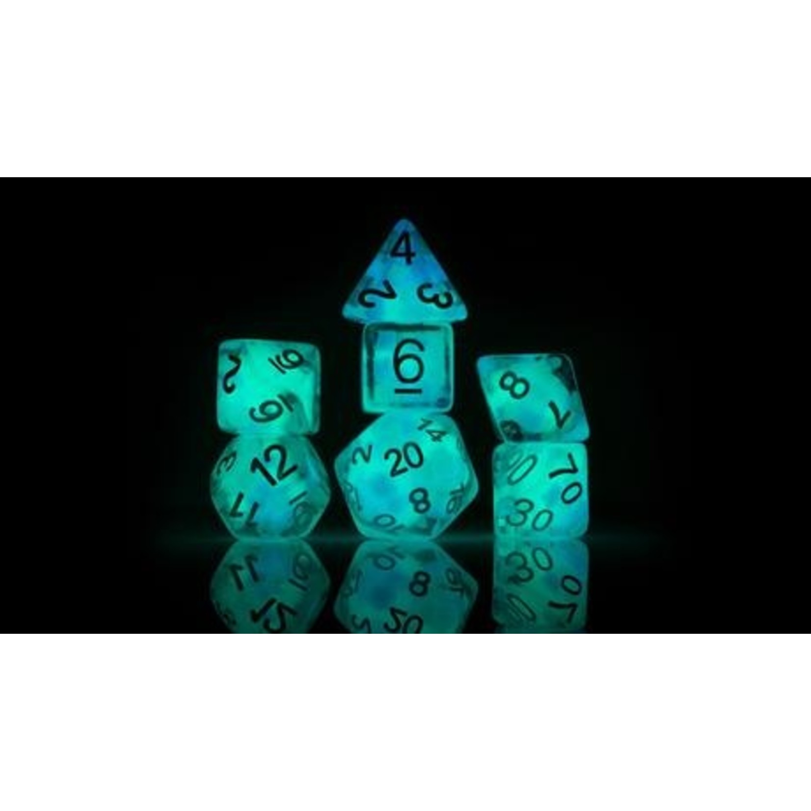 Cotton Candy Glowworm RPG Dice Set (7)