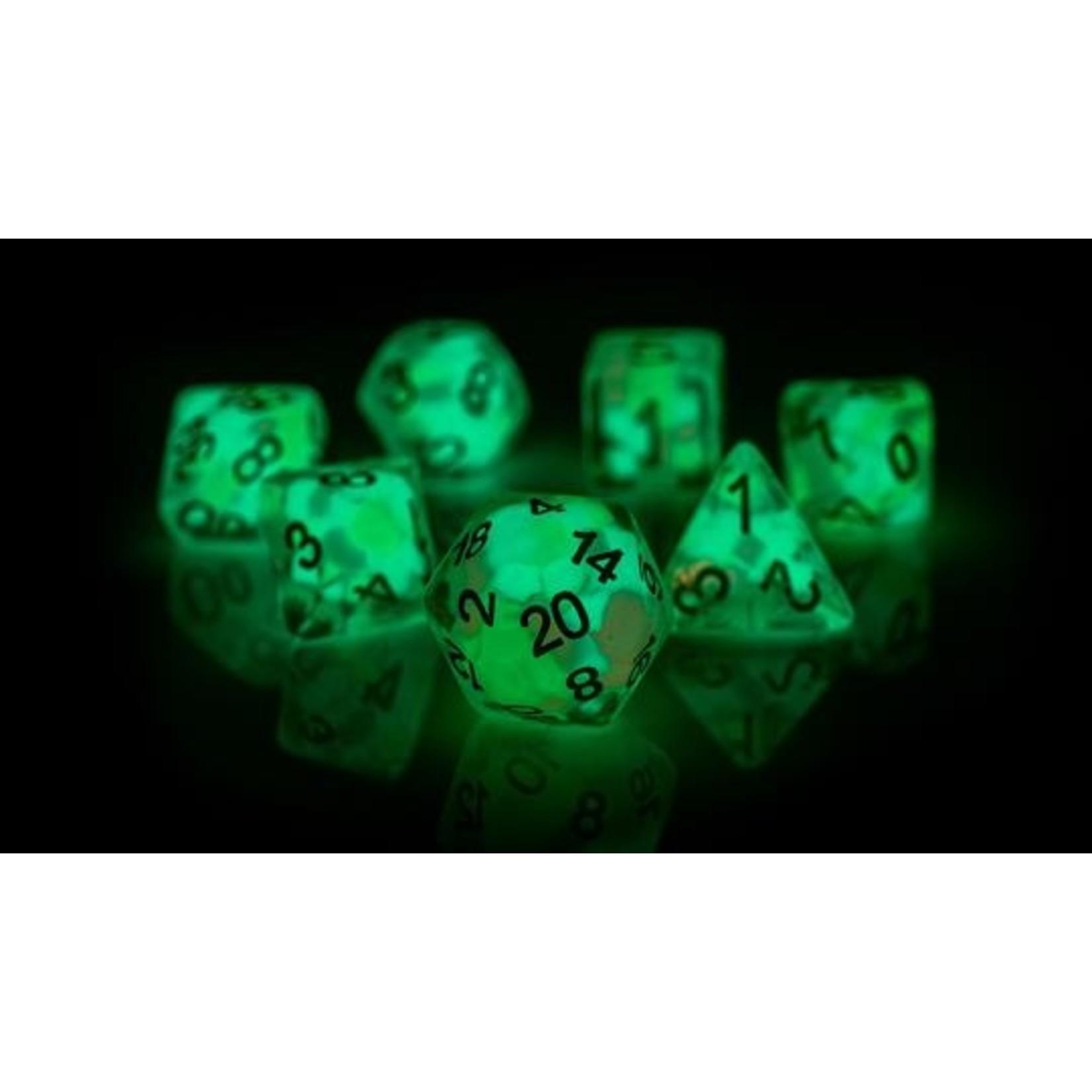 Lucky Charm Glowworm RPG Dice Set (7)