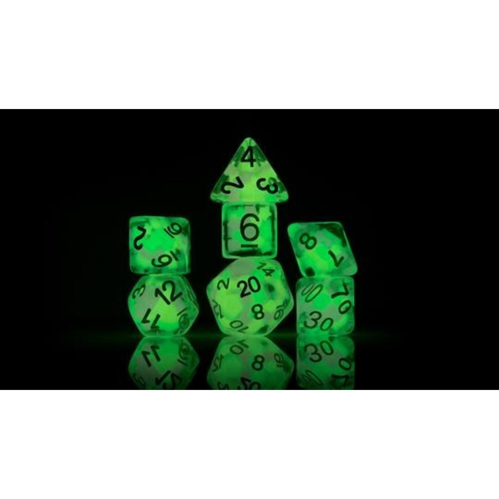 Melon Ball Glowworm RPG Dice Set (7)