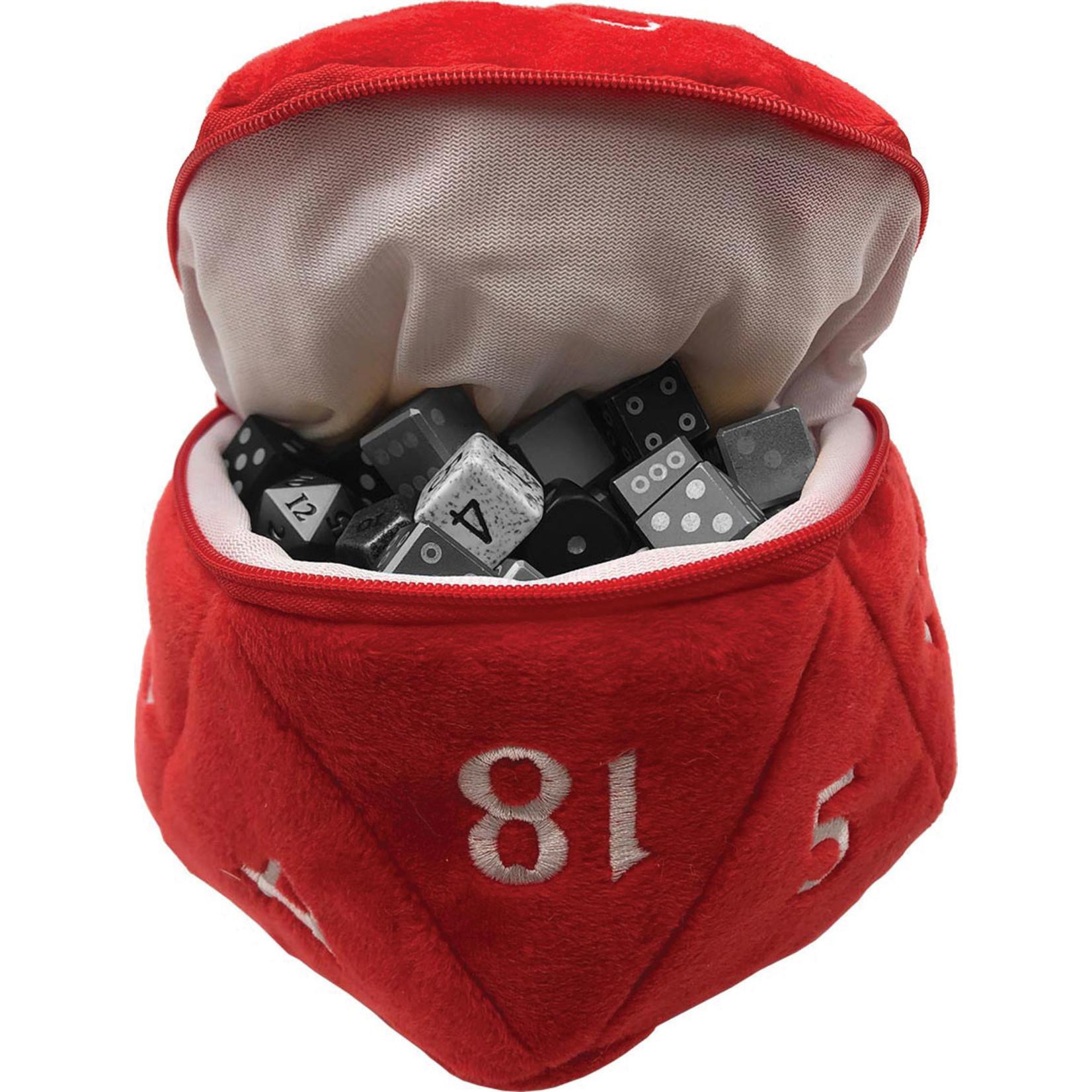 D20 Plush Dice Bag - Red