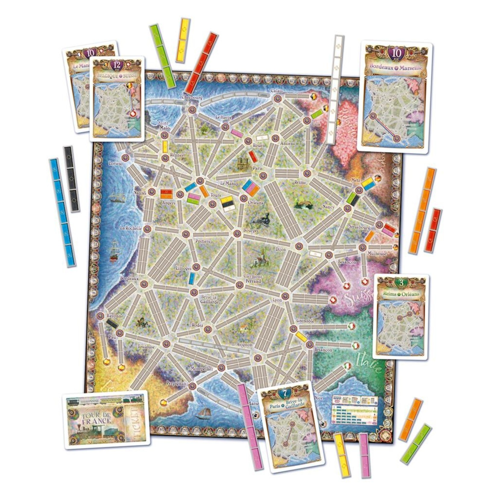 Ticket to Ride: France/Old West Map 6